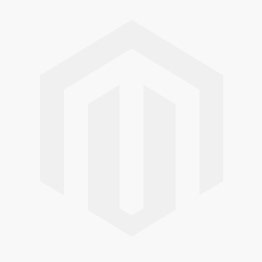 White PVC split mesh bag - Taupe binding